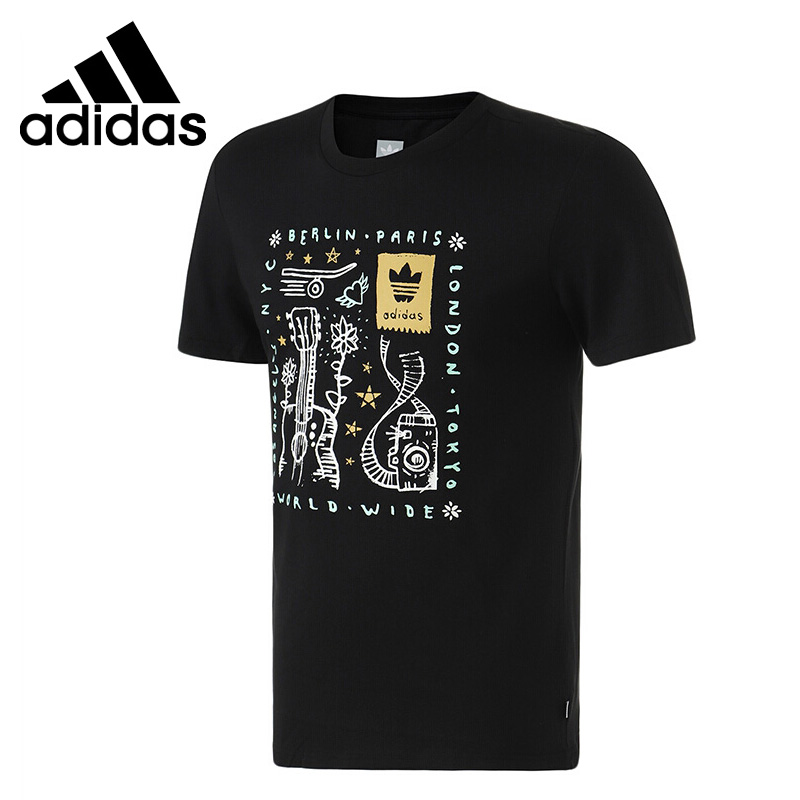 Original New Arrival  Adidas Originals HASWELL TEE  Men's T-shirts short sleeve Sportswear