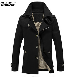 Image 1 - BOLUBAO Fashion Brand Men Trench Coats Autumn Winter Solid Color Slim Fit Mens Trench Jackets New Casual Trench Jacket Male