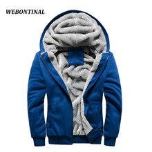 Webontinal marke herbst winter warm dicken samt feste sweatshirt männer softshell casual mens hoodies und sweatshirts trainingsanzug