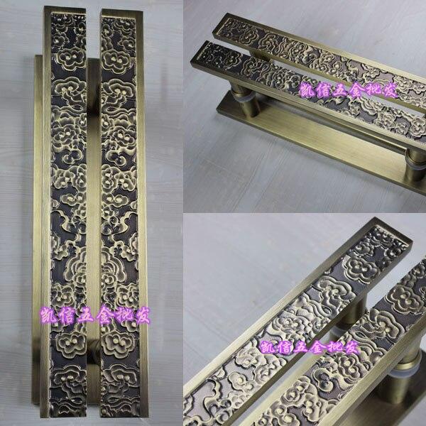 door handle in English - Chinese antique wooden door handle door handle toughened glass door handle bronze sliding door handle