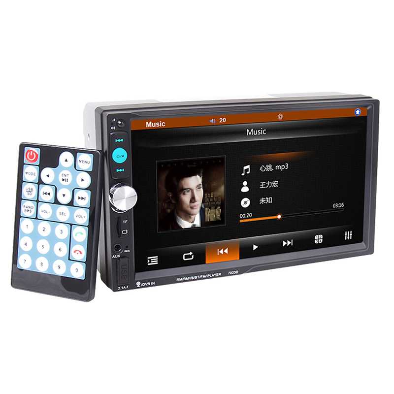 <font><b>7023D</b></font> 2Din 7inch Bluetooth Car Stereo MP5 Player Car MP5 FM Radio Tuner Fast Charge with Rear View Camera Function image