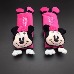 Image 1 - 1 Pair Cute Cartoon Car Sefety Seat Belt cover Children Seat belt Shoulder Pads Protection Plush Padding Auto Accessories gifts