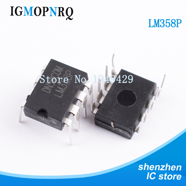 10pcs free shipping LM358 LM358P DIP-8 Operational Amplifiers - Op Amps Dual Op Amp new original