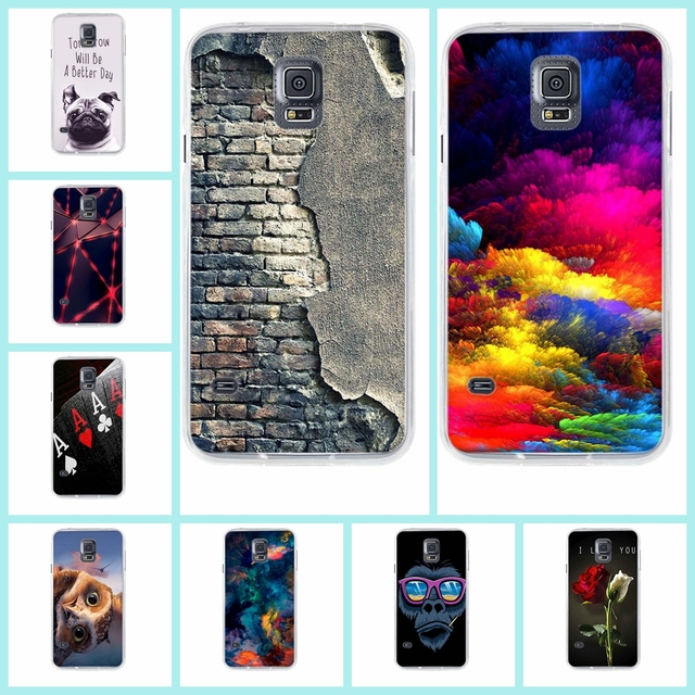 huge selection of c16e7 eda68 For Coque Samsung S5 Case Silicone Cover Case For Coque Samsung Galaxy S5  i9600 G900F SM-G900F S5 Neo G903F Carcasa Etui Fundas