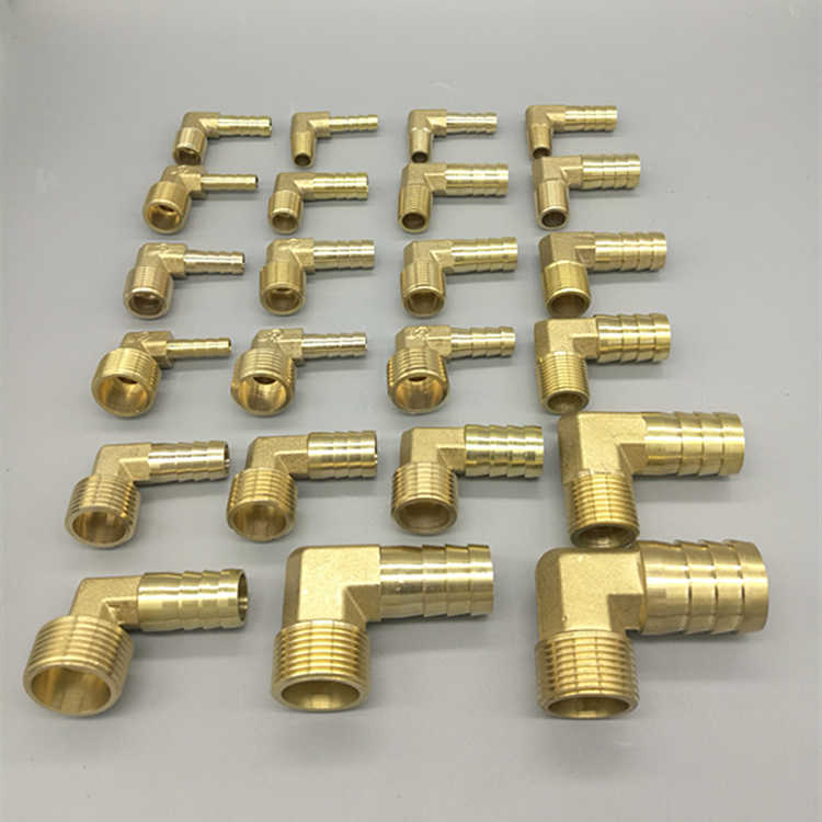"""Messing Hose Barb Fitting Elleboog 6mm 8mm 10mm 12mm 16mm 1/4 1/8 1/2 3/8 """"BSP Buitendraad Prikkeldraad Koppeling Connector Joint Adapter"""
