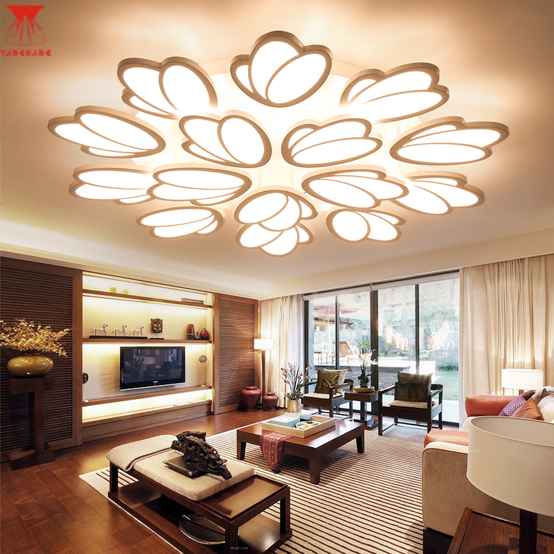 Touch Remote Control Dimming Modern LED Ceiling Lamp Fixture For Living Room Aluminum For Dining Room Bedroom Lights Lustre 2014new product 24w 2 4g rf touch remote control led ceiling panel 5630smd led lamp non polar dimming color temperature