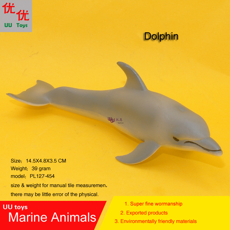 Hot toys Dolphin Simulation model Marine Animals Sea Animal kids gift educational props (Delphinidae ) Action Figures easyway sea life gray shark great white shark simulation animal model action figures toys educational collection gift for kids