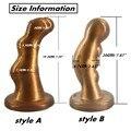 Новый Овец рога стиль силиконовый анальный плагин prostata массаж огромный butt plug присоске анальный фаллоимитатор продукты секса для пар