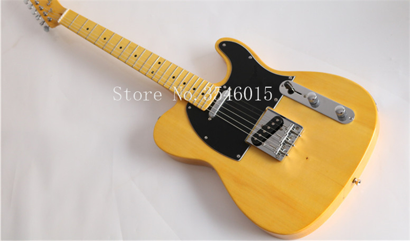 Factory custom shop 2016 New telecaster yellow wood MAPLE fretboard 6 string electric guitar Free shipping(China)