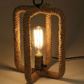 Hemp Rope Desk lamp American Style Study Room Desktop Decorated  Table lamp