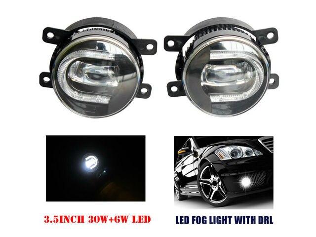 "3.5"" Inch 90mm 36W 6000K H11 9005 9006 880 H3 LED DRL Fog Lights Bumper Driving Lamp for TOYOTA HONDA NISSAN MAZADA"