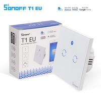 Sonoff T1 EU Smart Wifi Wall Touch Light Switch 1 Gang 2 Gang Touch WiFi 433