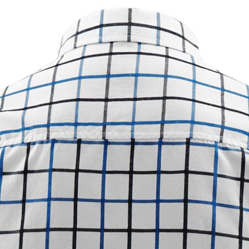 T-Bird 2018 Märke Mans Långärmad Mode Skjortor Casual Man Slim Fit - Herrkläder - Foto 4
