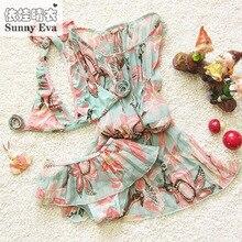 Childrens swimsuit girls bebek bikini swimwear 2016 3pcs/set children baby girl fashionable