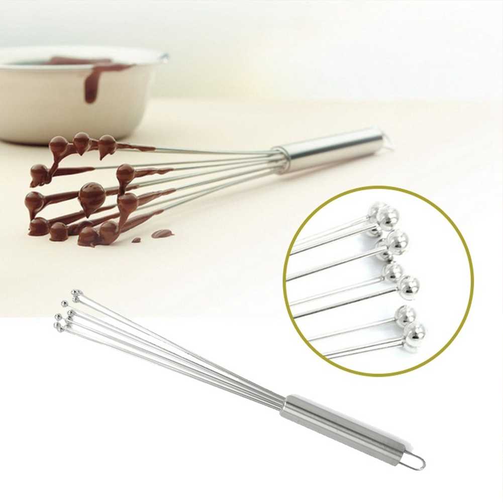 Mixing Eggbeater With Stainless Steel Ball Manual Resistant Blender Odor Resistant Stirrer Mixer Kitchen Accessories Tool