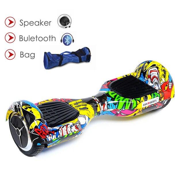 6.5 дюймов Гироскутеры трамвай ХОВЕРБОРДА gyroscoot электрический скутер два Колёса Электрический Ховербордом скейтборд