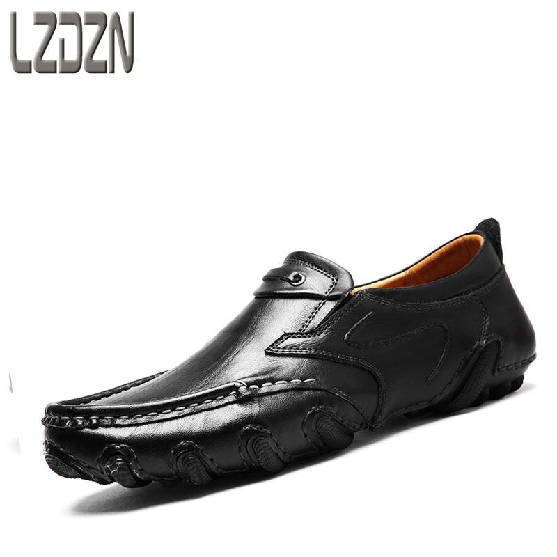 2017 nouveaux hommes chaussures en cuir loisirs hommes d'âge moyen conduite Doug automne automne pieuvre marron chaussures
