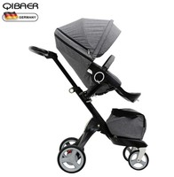 Hot Mom high landscape stroller sit sleeping pneumatic wheels baby stroller trolley pram