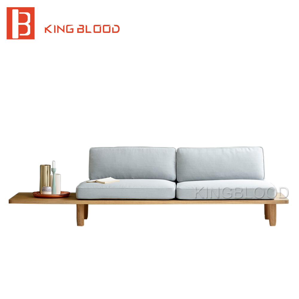Low price modern nordic fabric home lobby wooden sofa set design for space saving apartment Home furniture online low price