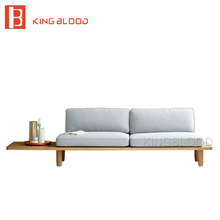 low price modern nordic fabric home lobby wooden sofa set design for space saving apartment Japan style(China)