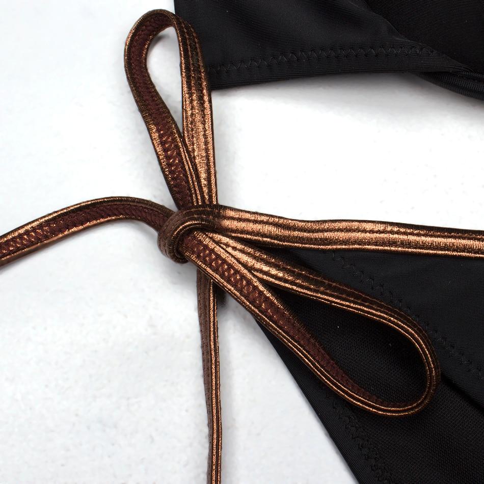 ESSV Swimsuit Women Sexy Bikini Set Plus Size Swimwear Female Bordered Push Up Swimming Suit Summer Bathing Suit Beachwear