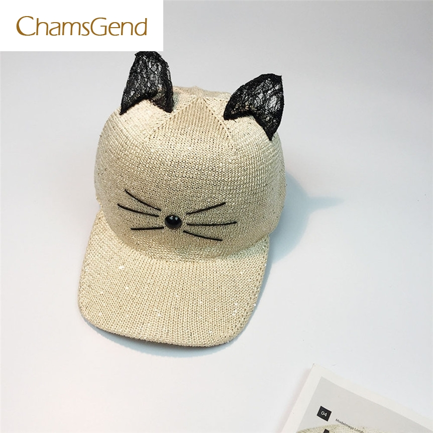 cat ear baseball cap ebay black font women