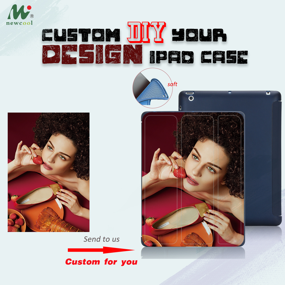 Customize Case For iPad PRO 11 2018 Mini 2 3 4 5 DIY Magnet Flip Cover Custom Case For ipad 9.7 2017 2018 2019 SOFT SILICON BACK