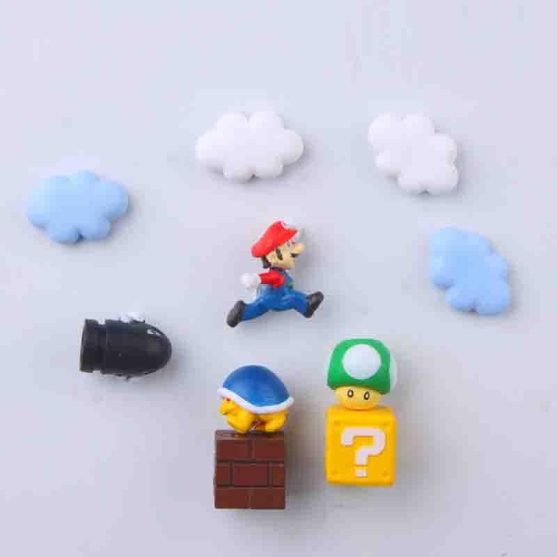 10pcs Super Mario Funny Game 3D PVC Fridge Sticker Refrigerator Magnet Figure