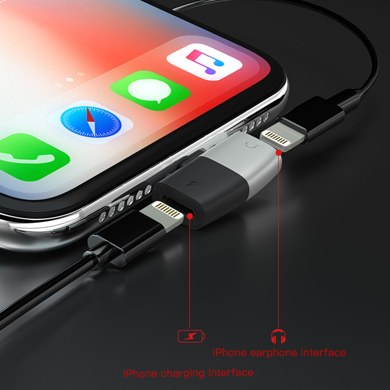 Image 5 - DM 019 Audio Aux Adapter For iPhone Xs Max Xr X 8 7 Plus Earphone Headphone Connector OTG Cable For Lightning Splitter Converter-in Memory Card Adapters from Computer & Office