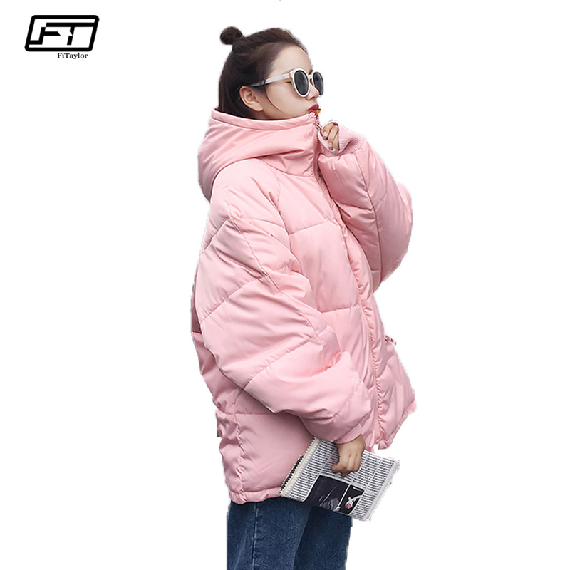 Fitaylor Hooded Black Winter Jacket Women 2017 Loose Plus Size Casual Long Padded Parka Mujer Thick Warm Cottom Coat Female fitaylor winter coat women jacket hooded thick casual cotton padded black parka mujer warm slim plus size female jacker