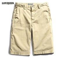 Brand Men Shorts Men Summer Cotton Cargo Shorts Casual Short Pants Mens Casual Clothing Bermudas Calf