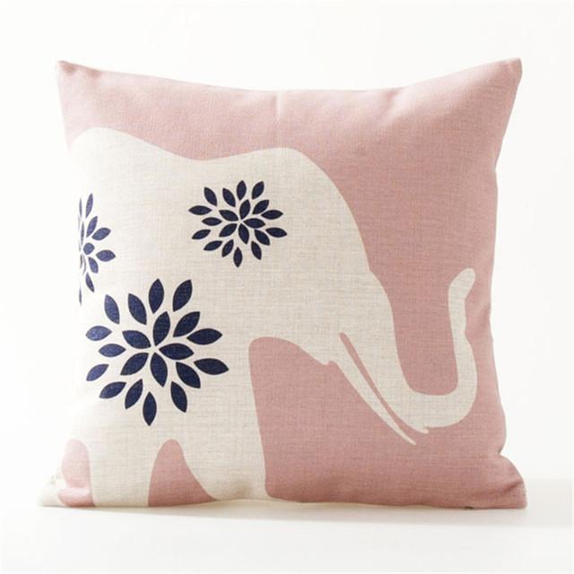 Pink Blue Geometric Patterns Decorative Pillow Covers
