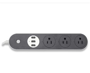 Wifi Smart Power Strip Surge Protector socket with 3 USB Ports 3 AC Plug EU UK US outlet Voice Control support alexa and Google