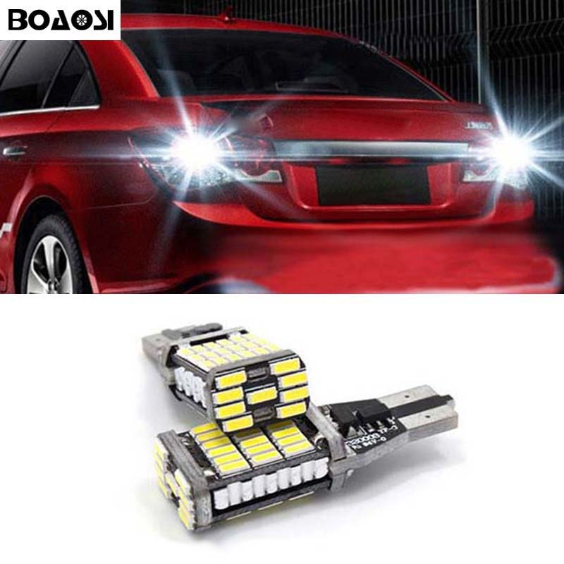 BOAOSI 2x White Canbus Error Free T15 W16W Car LED Backup Reverse Lights lamps For Chevrolet Cruze Malibu Epica CAPTIVA Equinox