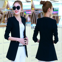 Spring and autumn ladies new collarless small suit jacket trend slim casual long sleeve suit AL44