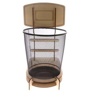 1 peça waste basketball estande wastebasket basket lixo bin wastebasketball três pontos cestas de lixo