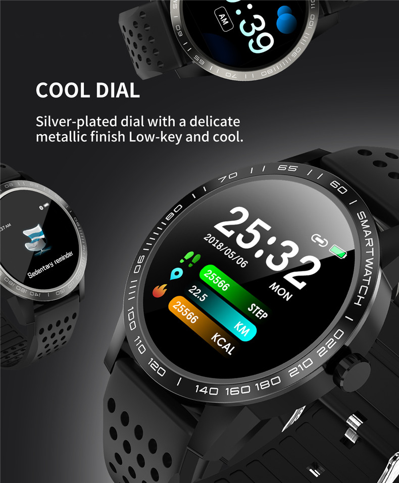 Lerbyee Smart Bracelet T2 Waterproof Blood Pressure Fitness Tracker Watch Call Reminder Sleep Monitor Smart Band for Android IOS 7