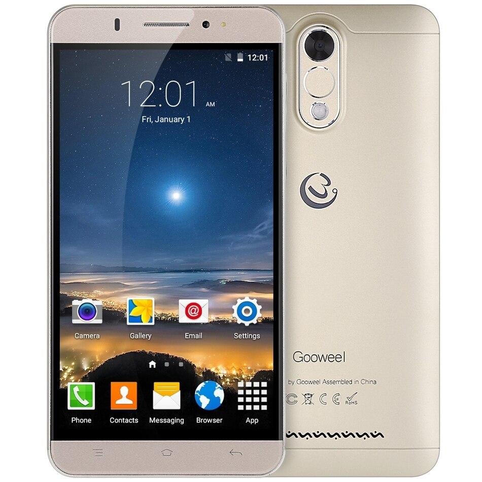 Цена за Gooweel M3 3 Г Смартфон 6.0 дюймов IPS Экран MTK6580 Quad core Сотовый телефон 1 ГБ Ram 8 ГБ Rom 8MP камерой GPS Мобильный телефон бесплатно случай