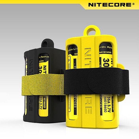 Original Nitecore 18650 Battery case Nitecore NBM40 Silicon case holder Storage box Portable Battery Magazine nitecore nbm40 multi purpose portable battery magazine at your disposal travel kits