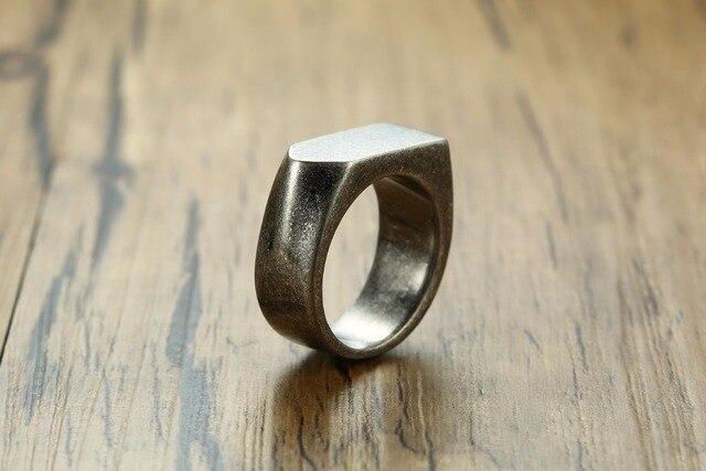 Мужское кольцо из нержавеющей стали модное винтажное серого