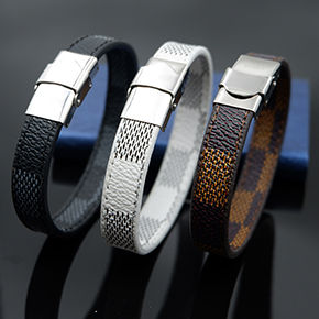 20-bracelet   VEROMCA Leather-based Bracelet Stainless Metal Bracelets Males Jewellery Excessive High quality Charms Bracelets jewellery Magnetic Bracelet HTB1hJOuflsmBKNjSZFFq6AT9VXaQ