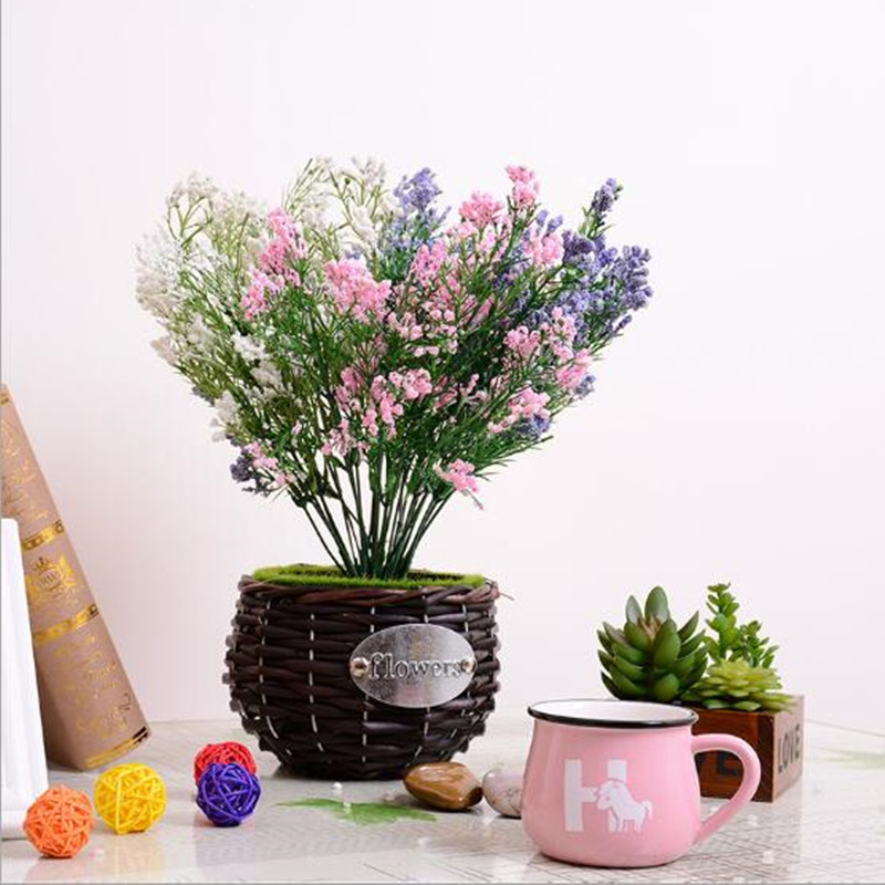 Furniture decoration Gypsophila flowers 5 branches of plastic flowers