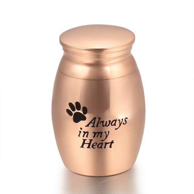 Rose Gold Paws Memorial Urn