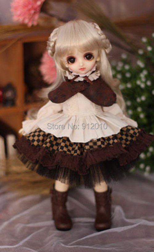 Sweetie Chocolate Mousse European Retro Outfit Dress Suit for BJD Doll 1/6 YOSD Doll Clothes LF9 buffalo s heir outfit suit 6pcs for bjd doll 1 3 sd10 sd13 sd17 ip sid eid soom dika guudoll doll clothes lf46
