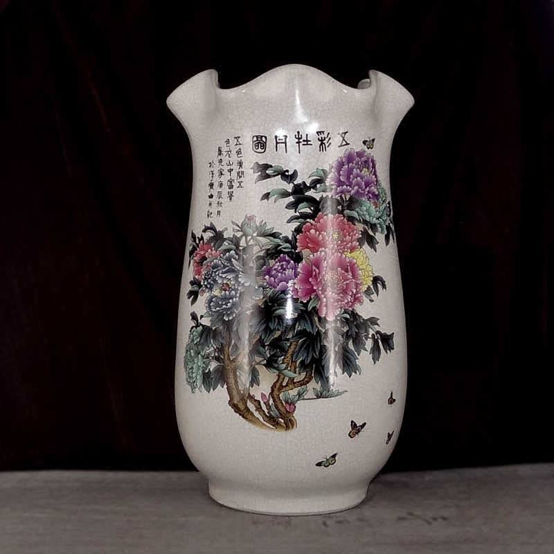 guci New Chinese Style Vase Jingdezhen Classical Porcelain Kaolin Flower Vase Home Decor Handmade Shining Famille  Vasesguci New Chinese Style Vase Jingdezhen Classical Porcelain Kaolin Flower Vase Home Decor Handmade Shining Famille  Vases