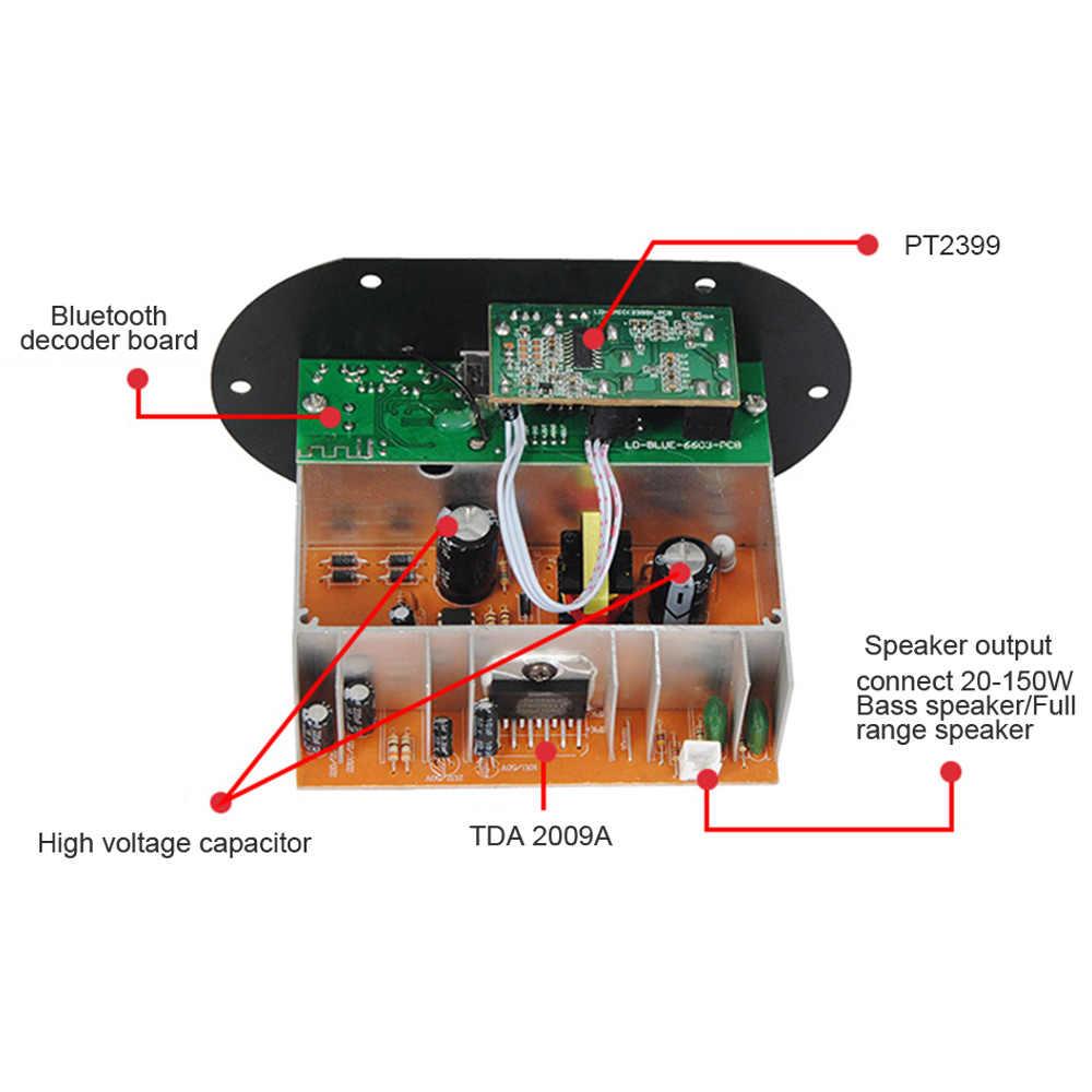 AOSHIKE Dual Microphone Bluetooth Amplifiers 12V 24V 220V Subwoofer  Amplifier Board For 5-10Inch Subwoofer Speaker DIY