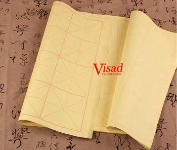 Pół gotowane papier ryżowy do malowania chiński obraz kaligrafii praktyka papier 9*9 cm tanie i dobre opinie Malarstwo papier Chińskie malarstwo TAI YI HONG VD-BP-00122 60 sheet pack half- cooked Pteroceltis skin