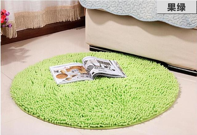 13 Colors Round Chenille Soft Nonslip Carpet Rug Floor Mats Seat Cushion Yoga Mat Bedroom Living