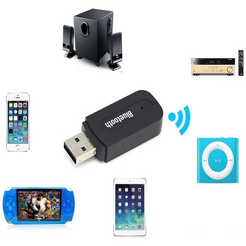 Audio Music Speaker Receiver Adapter Dongle Car USB Bluetooth Wireless Stereo