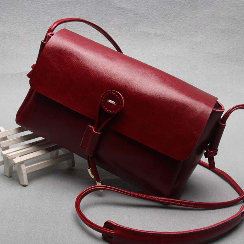 2017 New Fashion Genuine Leather Women Shoulder Bag Ladies Single Crossbody Bags Button Garnish On Bag Vintage Women Solid Flap 2016 new small vintage single shoulder women bag female pu leather messenger bags fashion shell crossbody bag gor young ladies